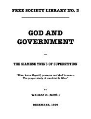 GOD AND GOVERNMENT - The Libertarian Labyrinth