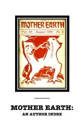 Mother Earth—An Author Index - The Libertarian Labyrinth