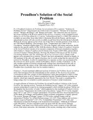 Proudhon's Solution of the Social Problem (excerpts)
