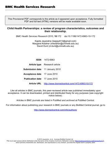 Child Health Partnerships - FKM UI