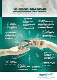 10 Good Reasons To Use Powder Free Gloves - Ansell Healthcare ...