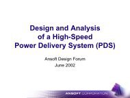 Design and Analysis of a High-Speed Power Delivery System