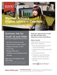Wanted: Library Digital Literacy Coaches - Idaho Commission for ...