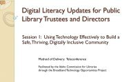 Digital Literacy Updates for Trustees and Library Directors - Idaho ...