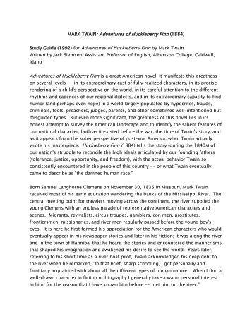 censorship in huckleberry finn essay The censorship of huckleberry finn adventures of huckleberry finn is a significant book in the history of american literature that presents readers with the.