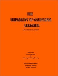 The University of California Libraries: A Plan for Development (1977)