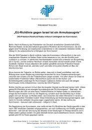 """""""EU-Richtlinie gegen Israel ist ein Armutszeugnis"""""""