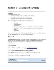 Section 6 - Catalogue Searching - Library