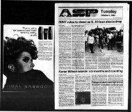 Albany Student Press 1985-10-01 - University at Albany Libraries