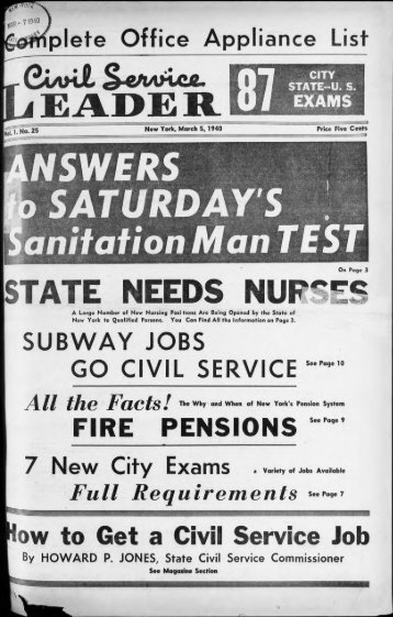 Civil Service - University at Albany Libraries