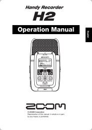 Operation Manual - ZOOM