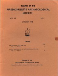 Bulletin of the Massachusetts Archaeological Society, Vol. 24, No. 1 ...