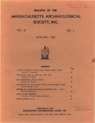 Bulletin of the Massachusetts Archaeological Society, Vol. 21, No. 2 ...