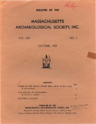 Bulletin of the Massachusetts Archaeological Society, Vol. 21, No. 1 ...