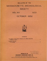 Bulletin of the Massachusetts Archaeological Society, Vol. 14, No. 1 ...