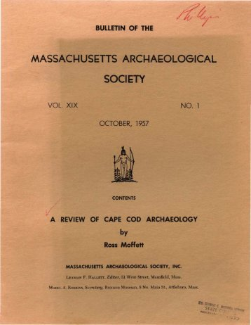 Review of Cape Cod Archaeology