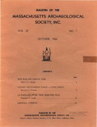 Bulletin of the Massachusetts Archaeological Society, Vol. 22, No. 1 ...