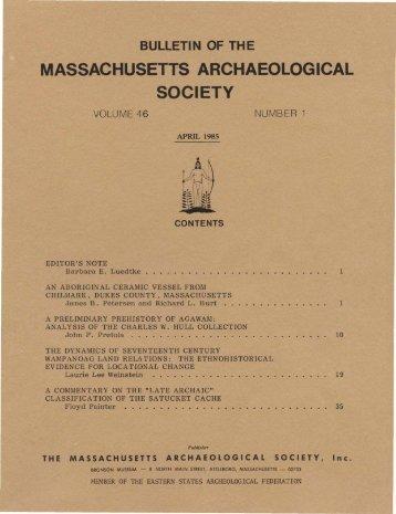 No. 1 – April 1985