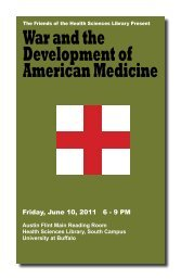 War and the Development of American Medicine - University at ...