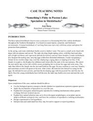 "CASE TEACHING NOTES for ""Something's Fishy in Paxton Lake ..."