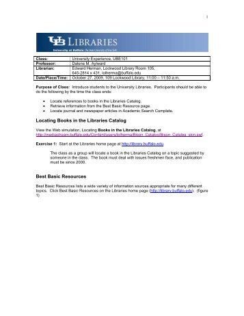 Locating Books in the Libraries Catalog Best Basic Resources