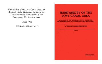 Habitability of the Love Canal Area - University at Buffalo Libraries