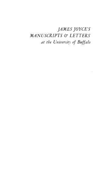 James Joyce's Manuscripts and Letters - University at Buffalo Libraries