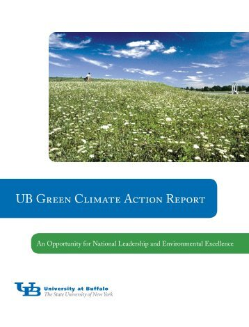 UB Green Climate Action Report - University at Buffalo Libraries