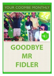 Mr Fidler Special Edition - Coombe Monthly Issue 12