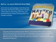 April 14 - 20, 2013 is National Library Week