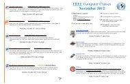 FREE Computer Classes November 2012