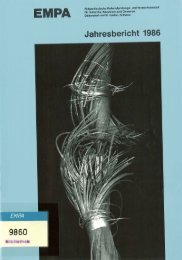 Jahresbericht 1986 - Eawag-Empa Library
