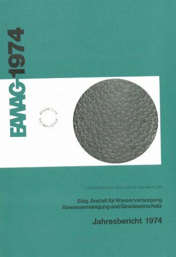 IIIMIJahresbericht 1974 - Eawag-Empa Library