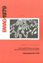 Jahresbericht 1979 - Eawag-Empa Library