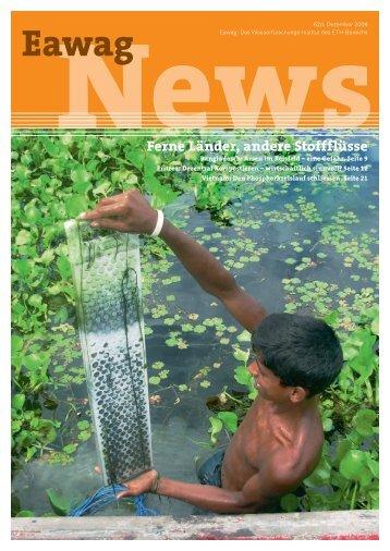 Eawag News 62d: Ferne Länder, andere Stoffflüsse