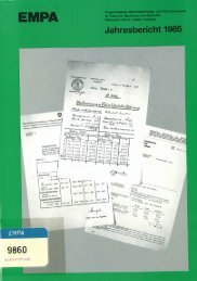 Jahresbericht 1985 - Eawag-Empa Library