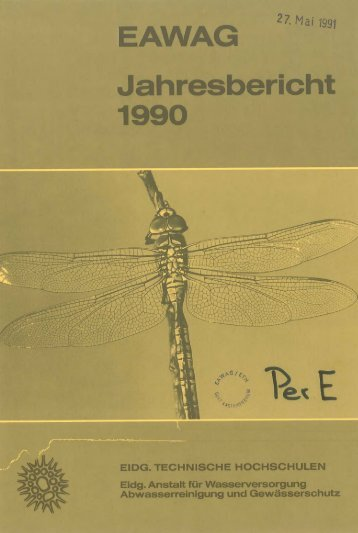 Jahresbericht 1990 - Eawag-Empa Library