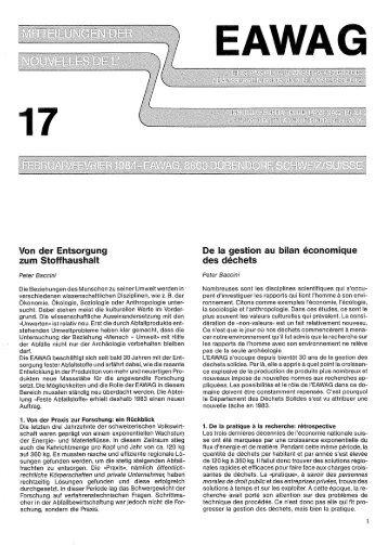 Eawag News 17 (1984) (Deutsch/français) - Eawag-Empa Library