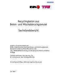 Recyclingbeton aus Beton- und Mischabbruchgranulat ...