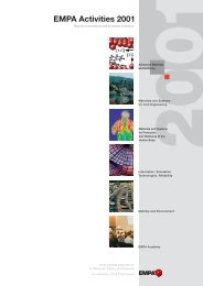 EMPA Activities 2001