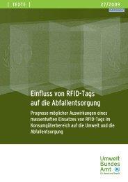 Texte 27/2009: Einfluss von RFID-Tags auf die Abfallentsorgung ...