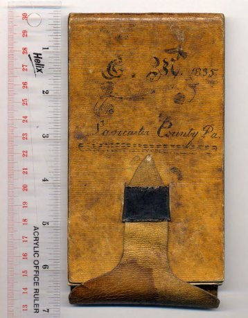 George McIlvain 1835 Diary