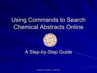 Using Commands to Search CAS Online - HSU Library