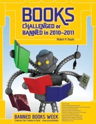 Books Challenged or Banned in 2010–2011 - American Library ...