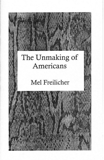 The Unmaking of - Cunningham Memorial Library