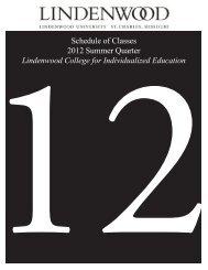 Schedule of Classes 2012 Summer Quarter Lindenwood College for ...