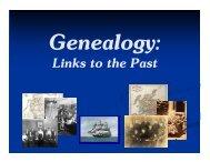 Genealogy - McMaster University