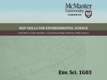 MAP SKILLS FOR ENVIRONMENTAL SCIENCE - McMaster University