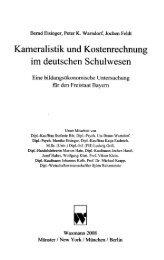 Kameralistik und Kostenrechnung im deutschen Schulwesen