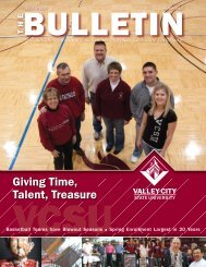 Giving Time, Talent, Treasure - Valley City State University